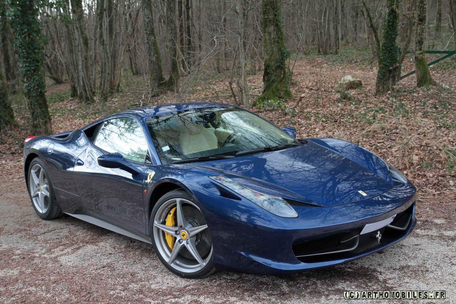 Photo Shoot Ferrari 458 Italia In Tdf Blue Crema